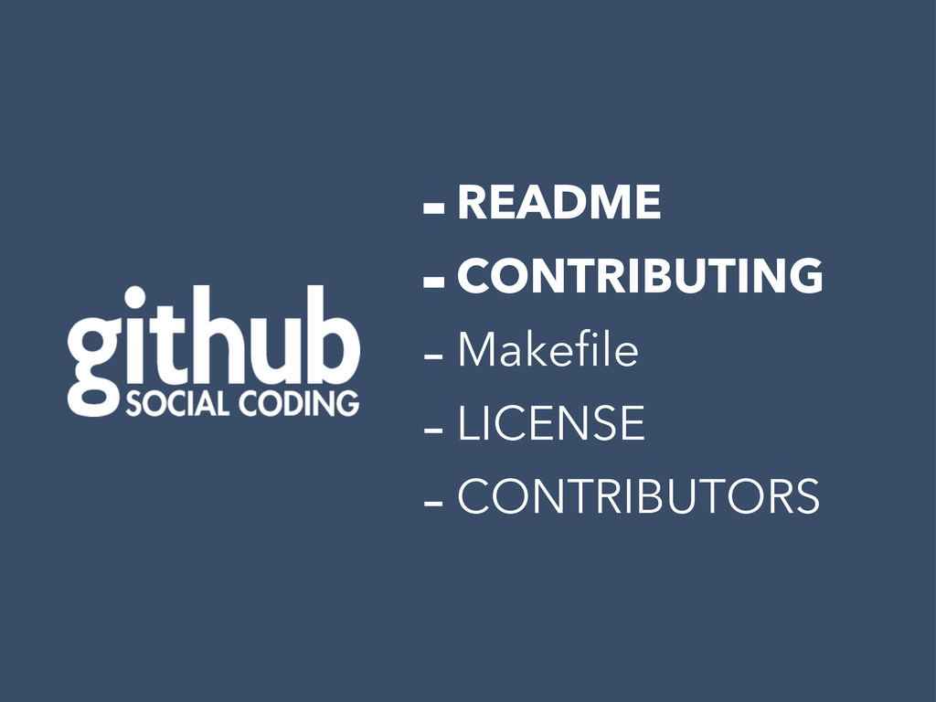 -README -CONTRIBUTING -Makefile -LICENSE -CONTR...