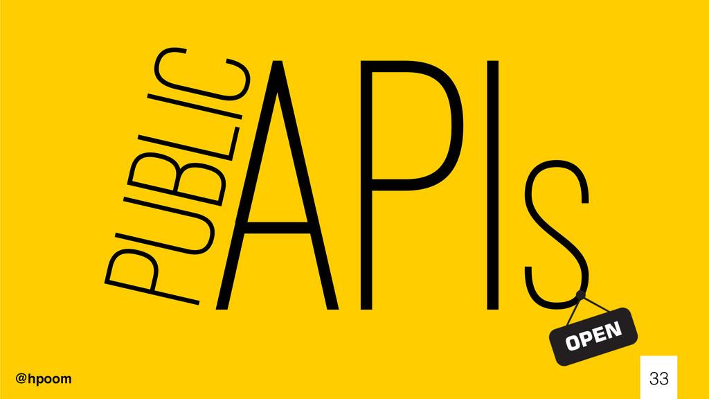 @hpoom APIs 33 Public