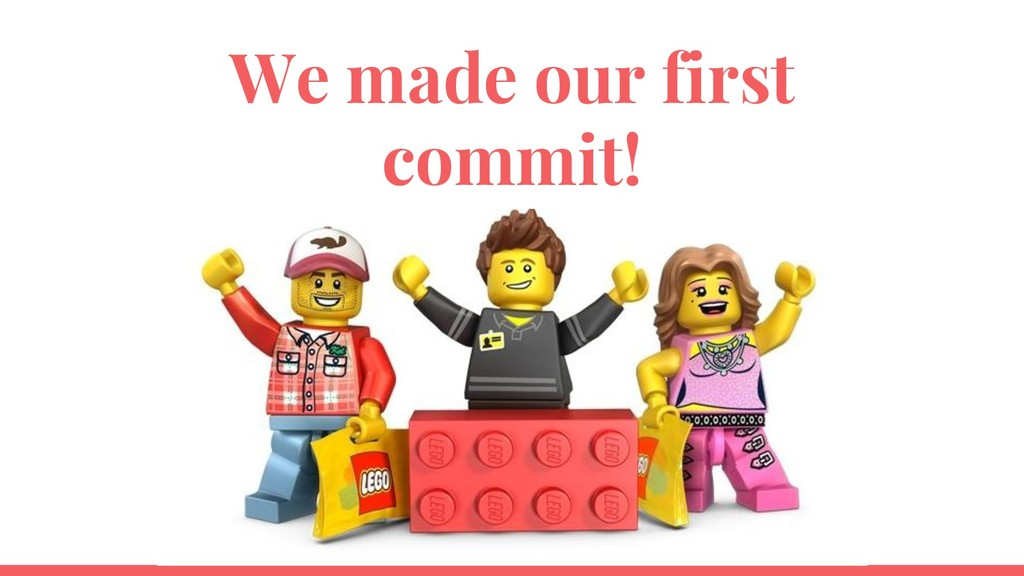 We made our first commit!