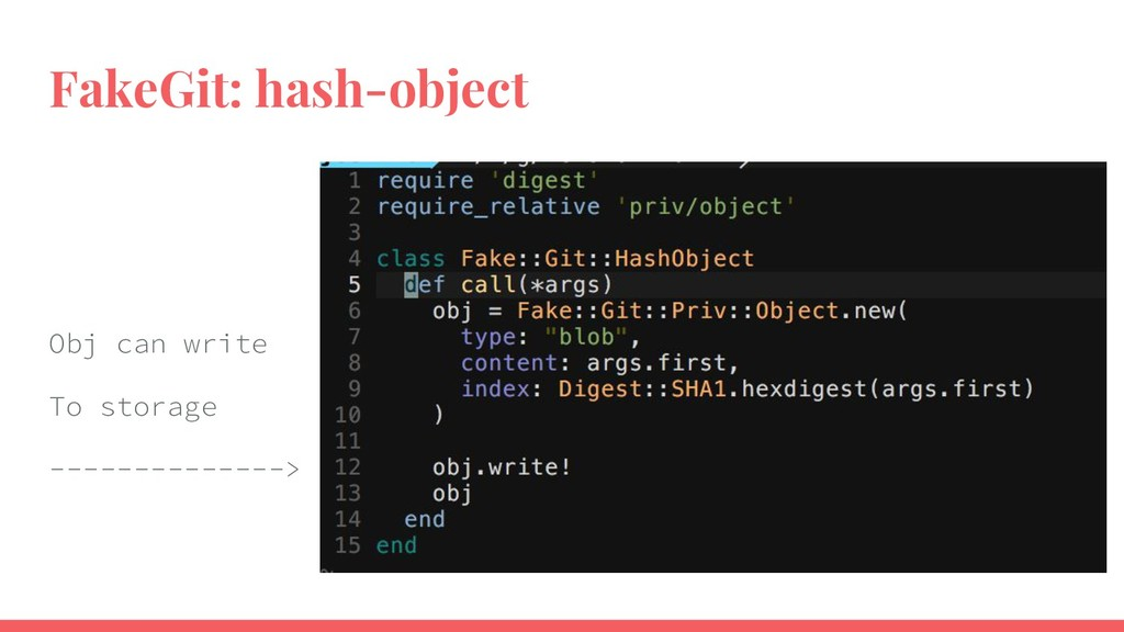 FakeGit: hash-object Obj can write To storage -...