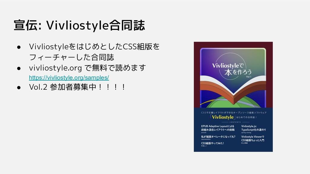 宣伝: Vivliostyle合同誌 ● VivliostyleをはじめとしたCSS組版を フ...