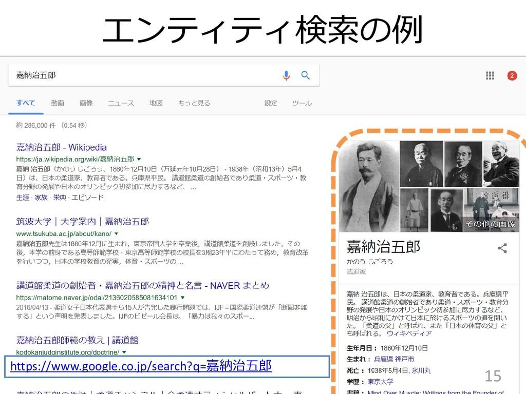 エンティティ検索の例 15 https://www.google.co.jp/search?q...