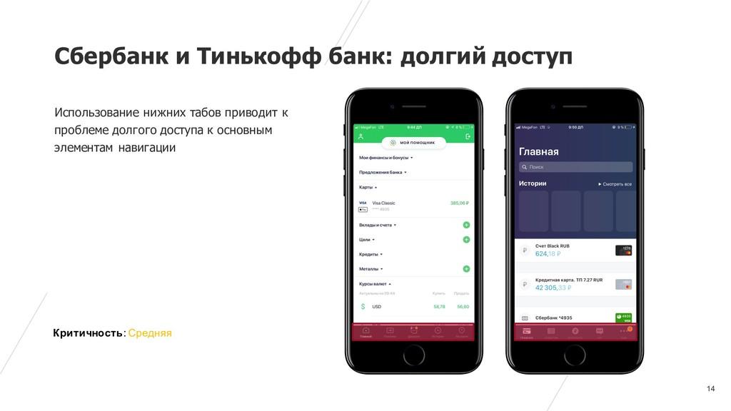 14 Сбербанк и Тинькофф банк: долгий доступ Испо...