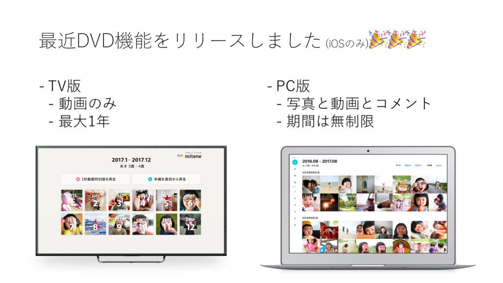 最近DVD機能をリリースしました (iOSのみ)  - TV版 - 動画のみ - 最⼤1年 -...