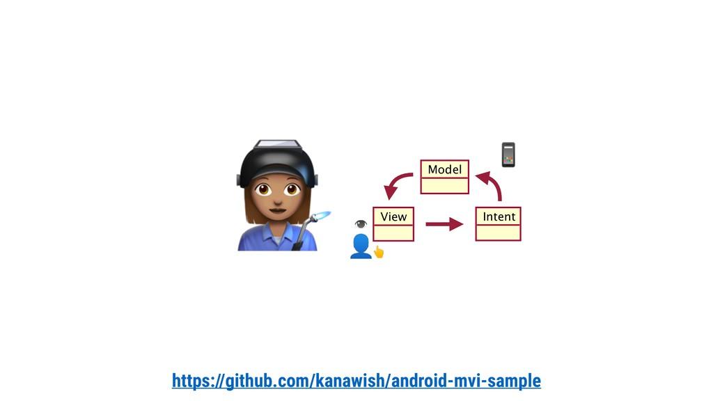 https://github.com/kanawish/android-mvi-sample ...