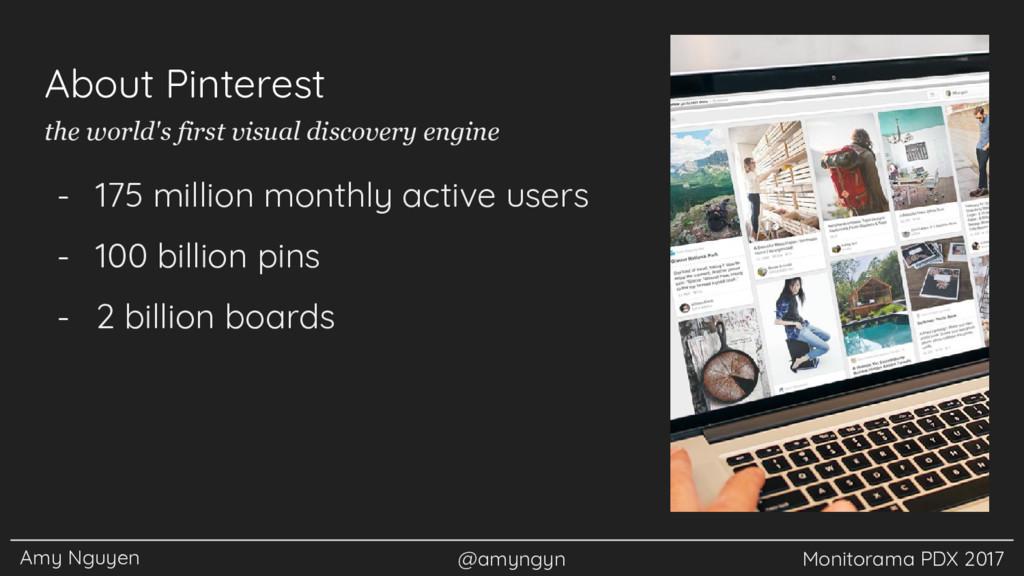 Amy Nguyen @amyngyn Monitorama PDX 2017 About P...