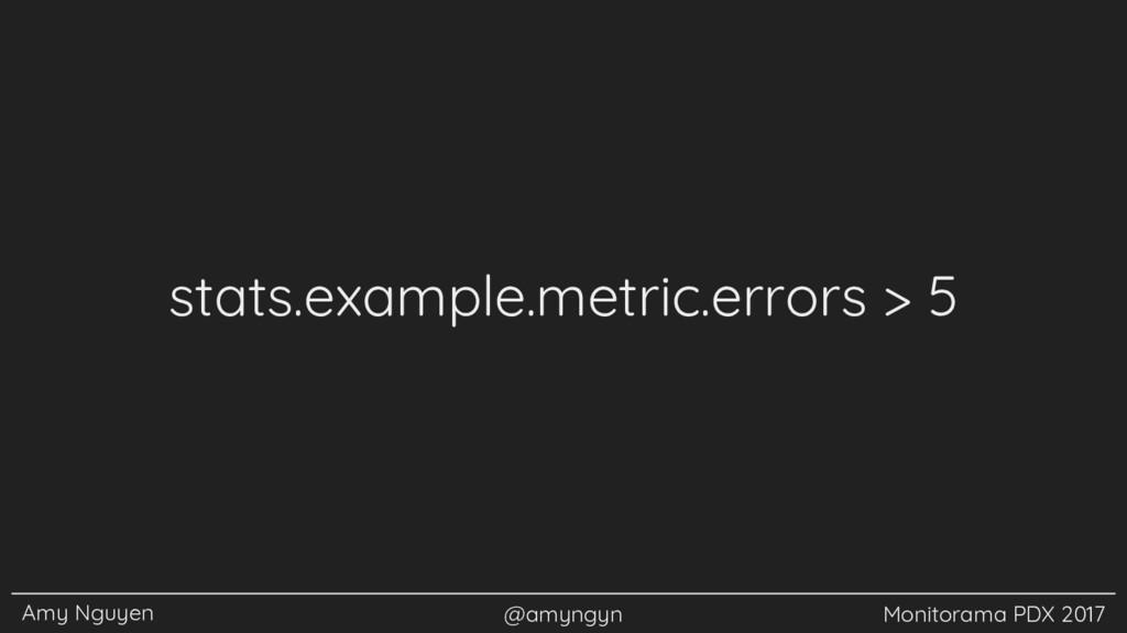 Amy Nguyen @amyngyn Monitorama PDX 2017 stats.e...