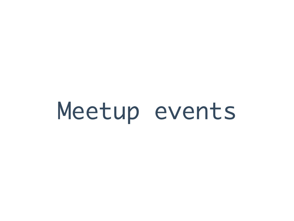 Meetup events