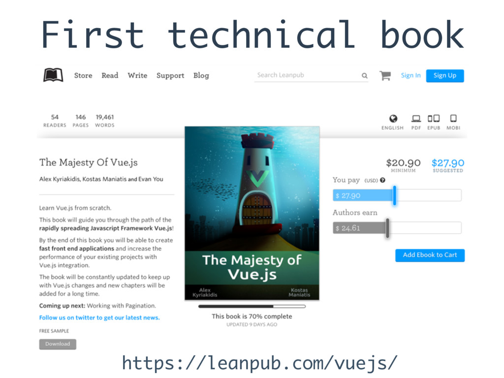First technical book https://leanpub.com/vuejs/