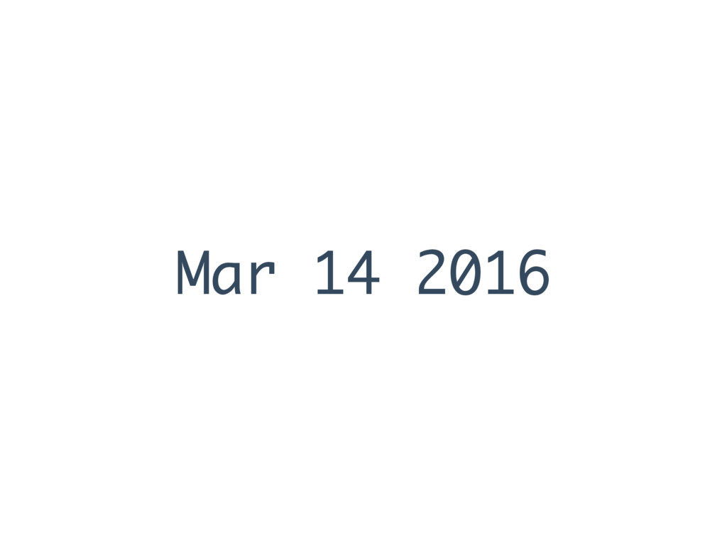 Mar 14 2016