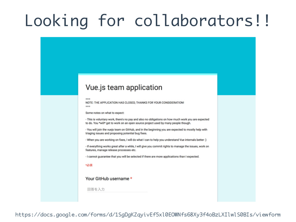 Looking for collaborators!! https://docs.google...