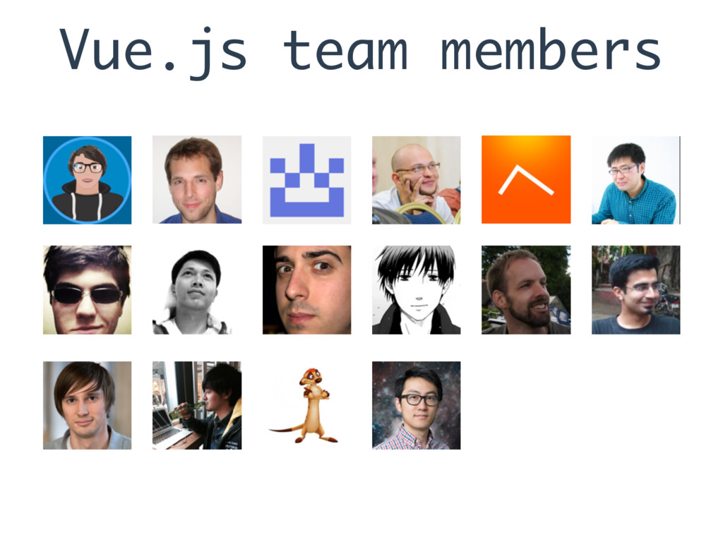 Vue.js team members