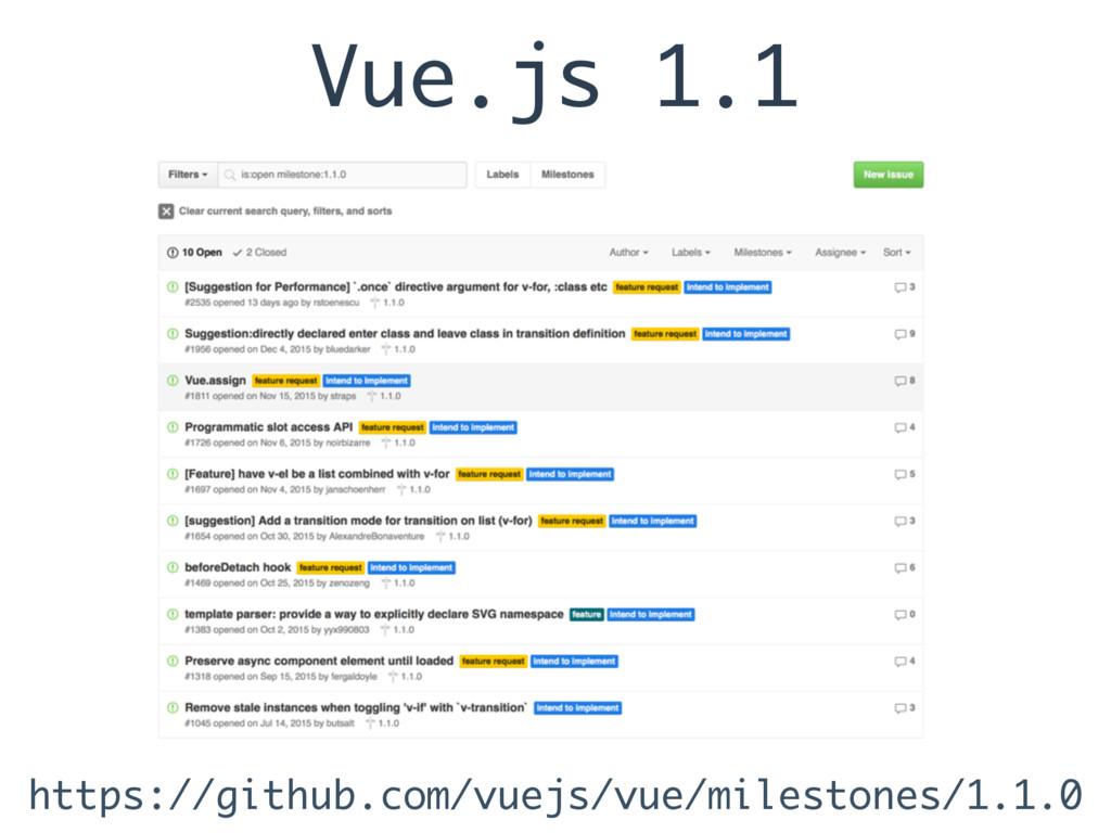 Vue.js 1.1 https://github.com/vuejs/vue/milesto...