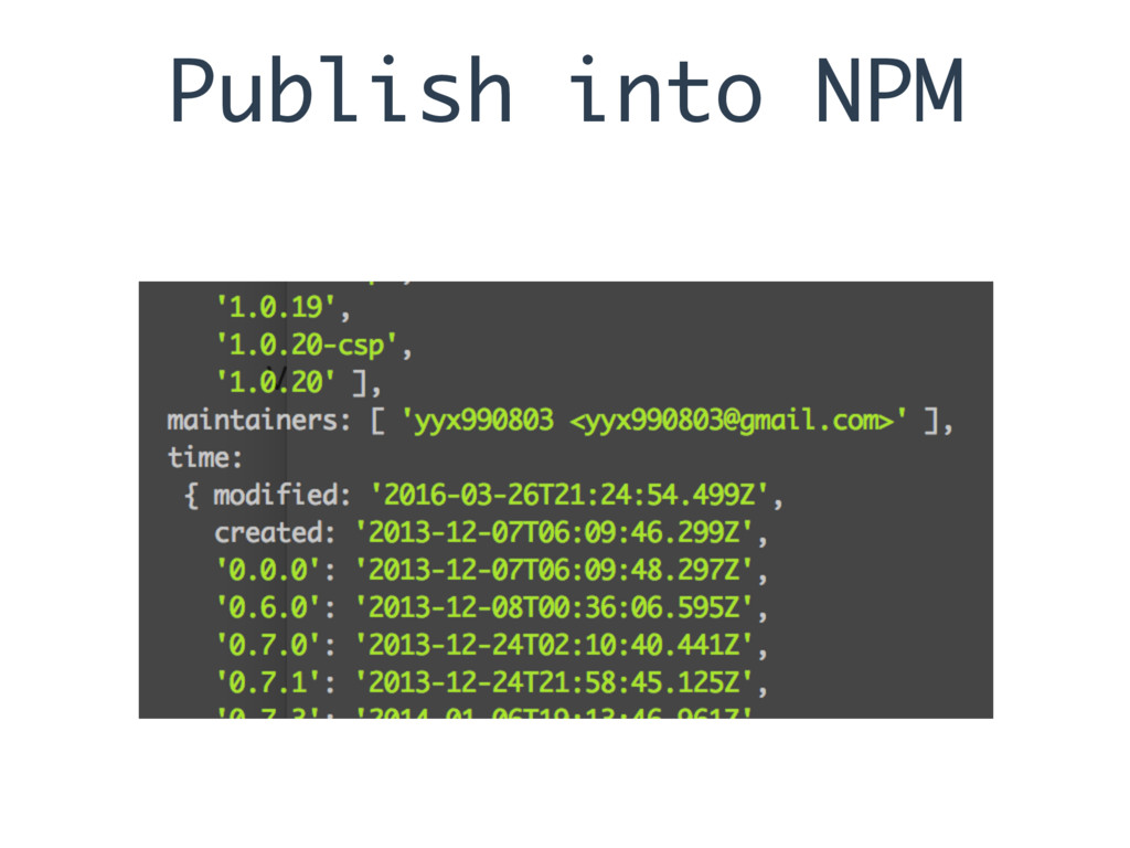 Publish into NPM
