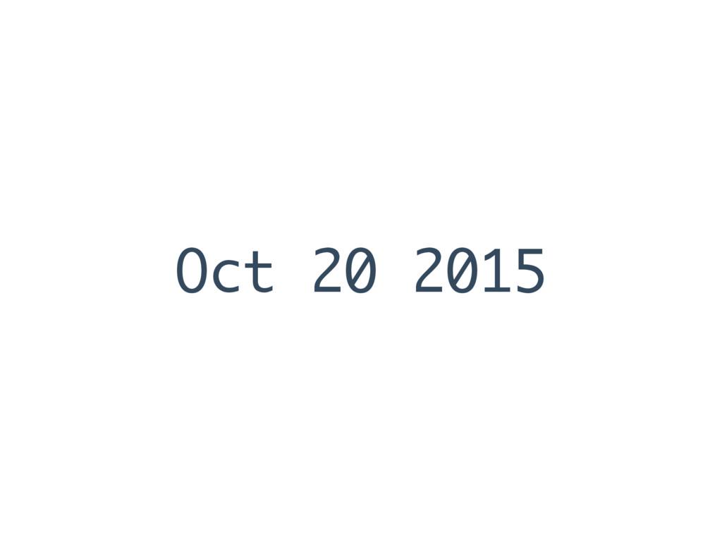 Oct 20 2015