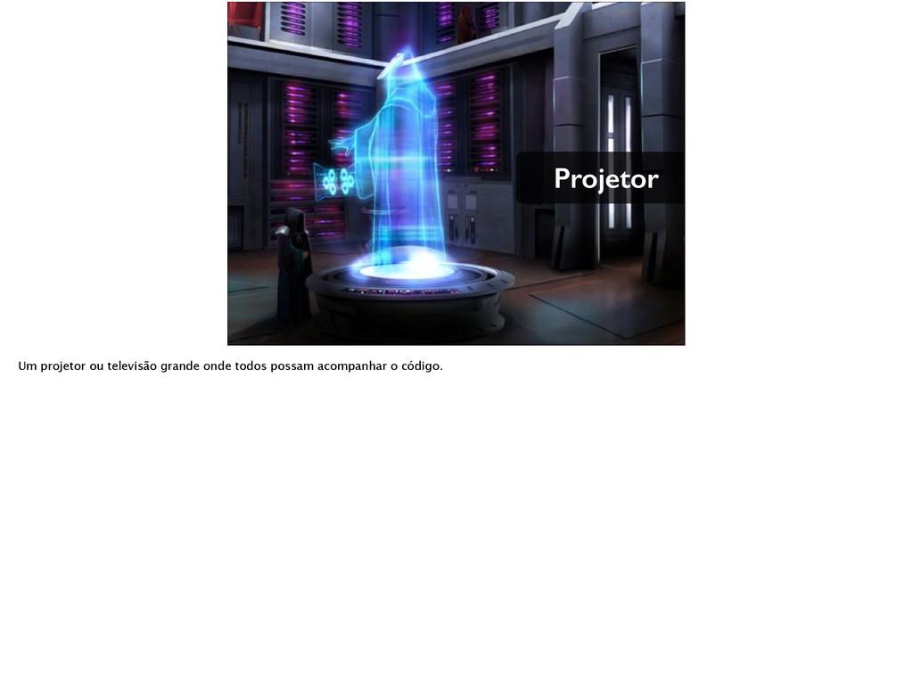 Projetor Um projetor ou televisão grande onde t...