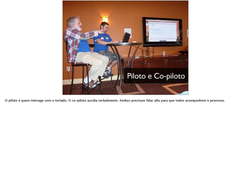Piloto e Co-piloto O piloto é quem interage com...