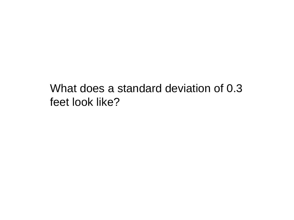 What does a standard deviation of 0.3 feet look...