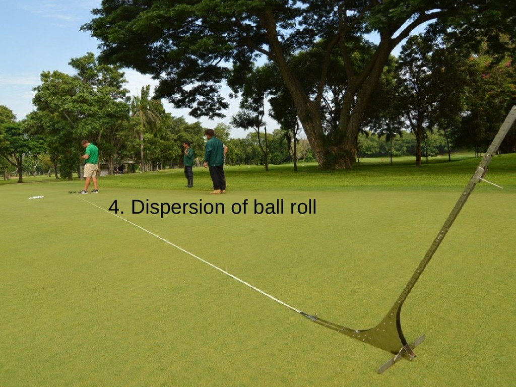 4. Dispersion of ball roll