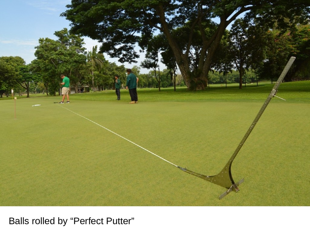 """Balls rolled by """"Perfect Putter"""""""