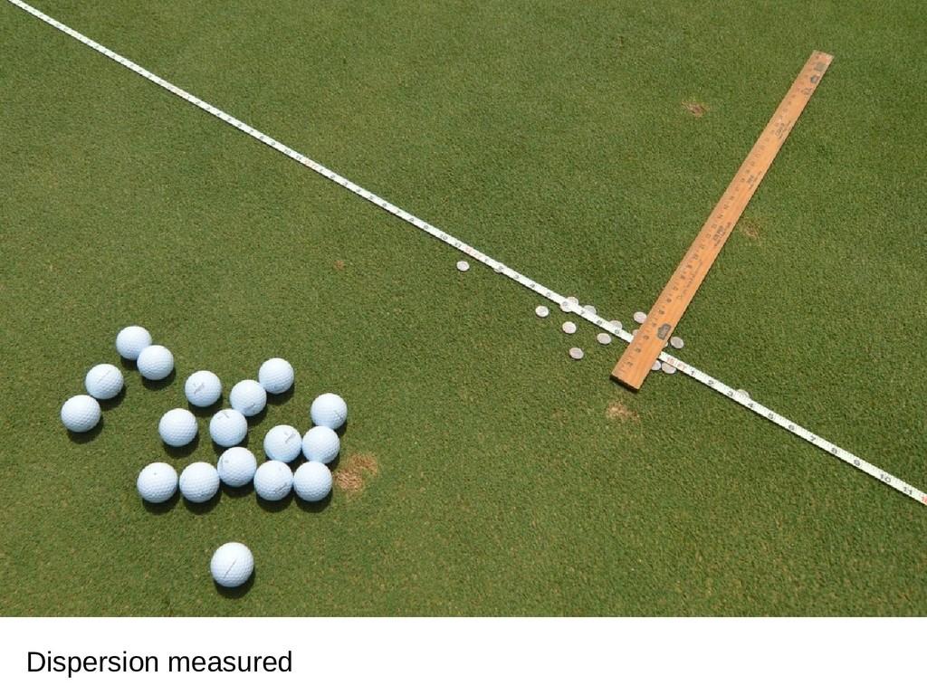 Dispersion measured