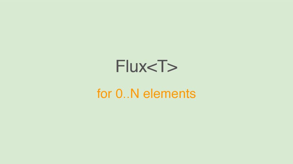 Flux<T> for 0..N elements