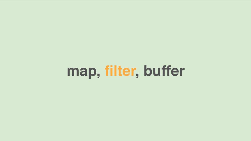 map, filter, buffer