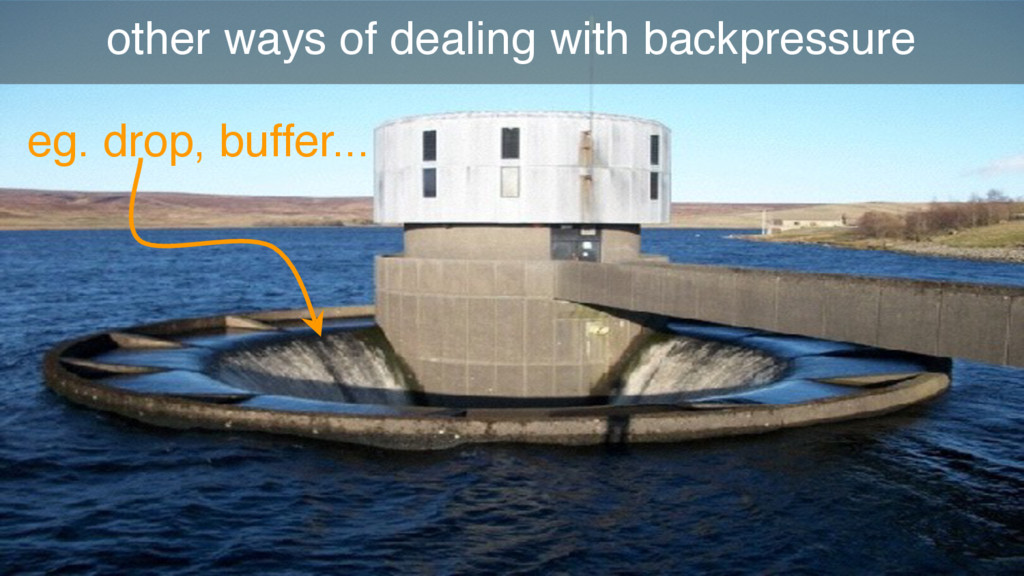 other ways of dealing with backpressure eg. dro...