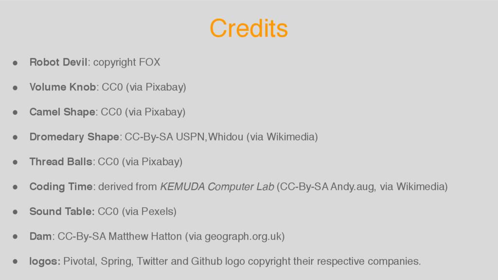 Credits ! Robot Devil: copyright FOX ! Volume K...