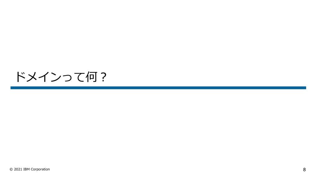 8 © 2021 IBM Corporation ドメインって何︖