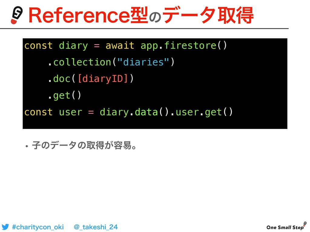 const diary = await app.firestore() .collection...