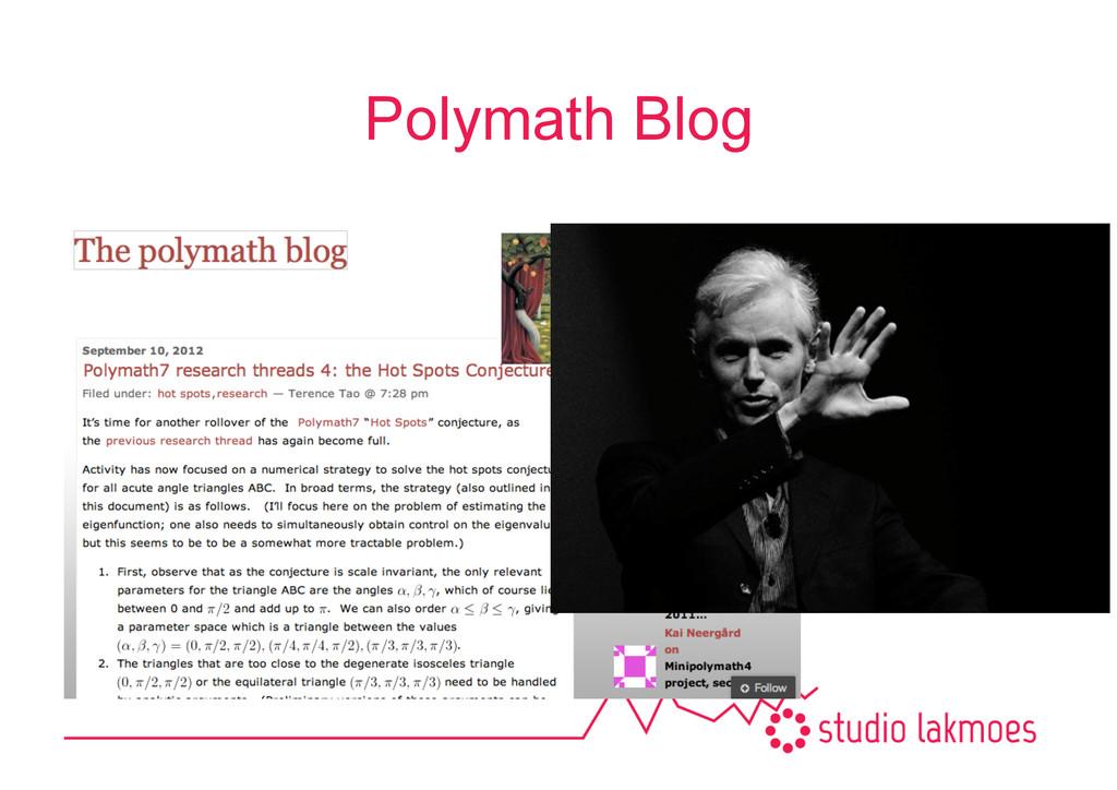Polymath Blog