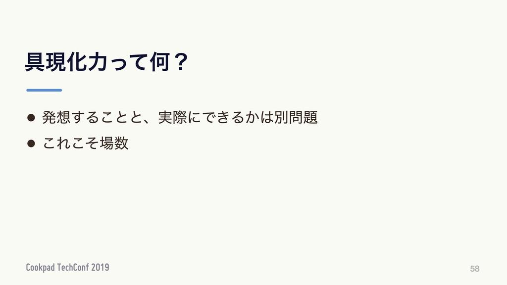 ۩ݱԽྗͬͯԿʁ 58 • ൃ͢Δ͜ͱͱɺ࣮ࡍʹͰ͖Δ͔ผ • ͜Εͦ͜