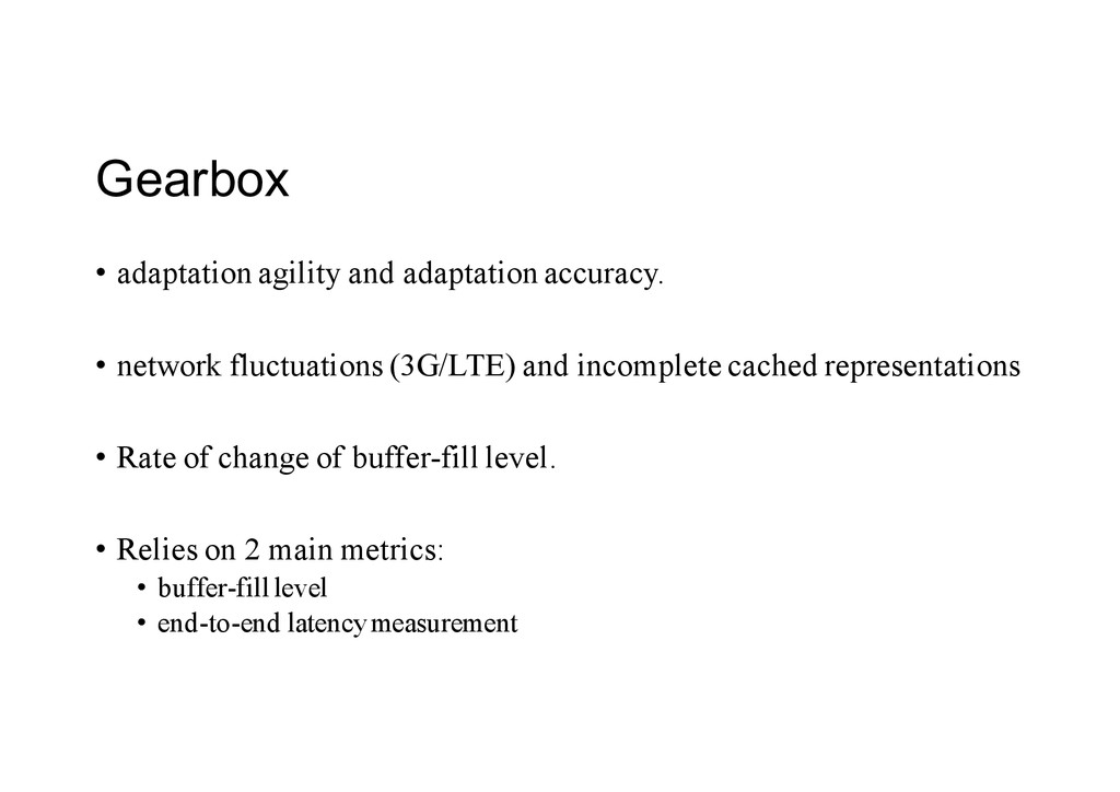 Gearbox • adaptation agility and adaptation acc...
