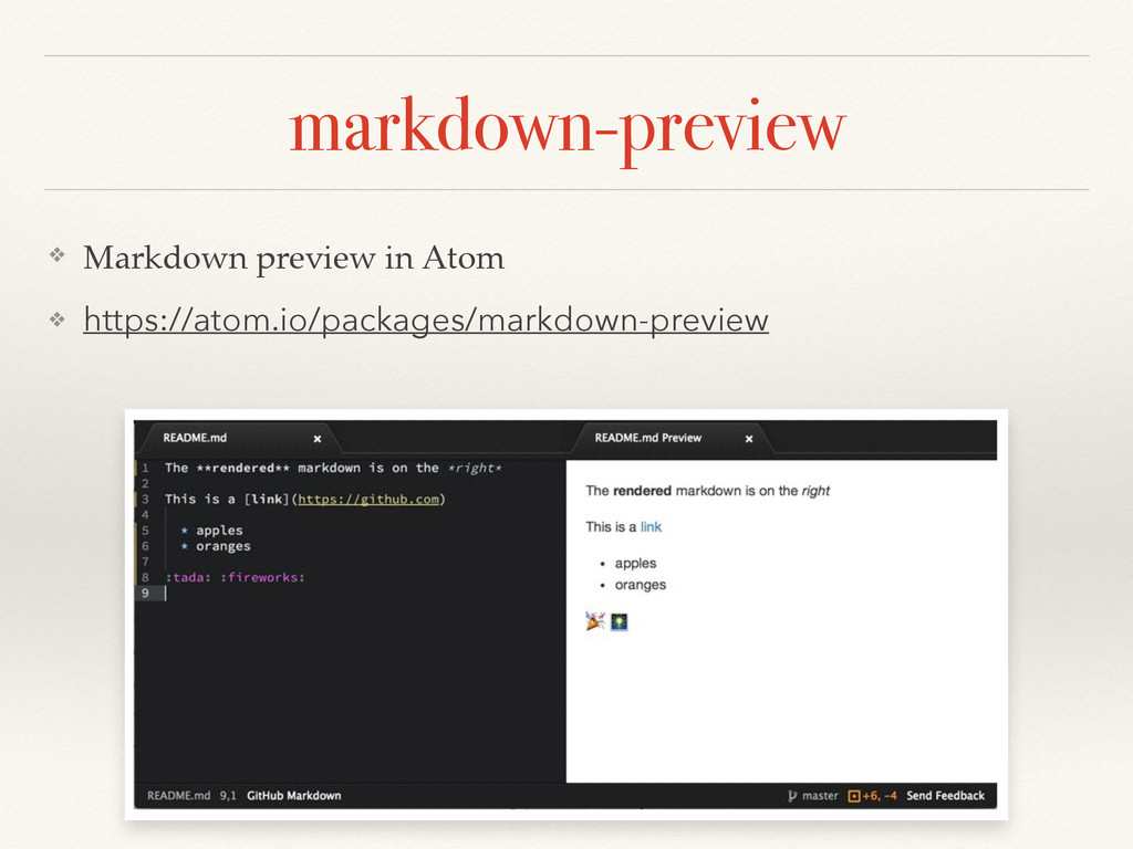 markdown-preview ❖ Markdown preview in Atom! ❖ ...