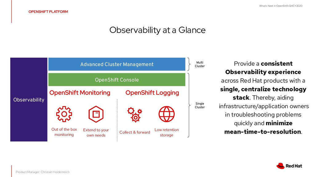 What's Next in OpenShift Q4CY2020 Observability...