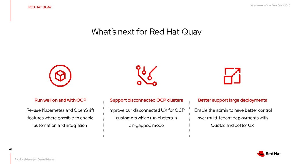 What's next in OpenShift Q4CY2020 Improve our d...