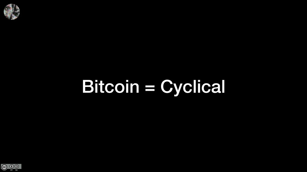 Bitcoin = Cyclical