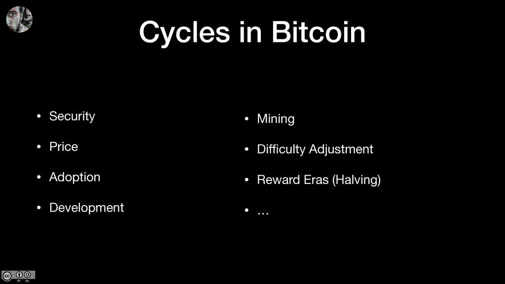 Cycles in Bitcoin • Security  • Price  • Adopti...