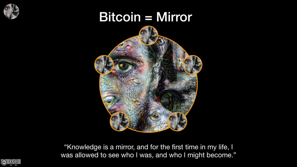 """""""Knowledge is a mirror, and for the first time i..."""