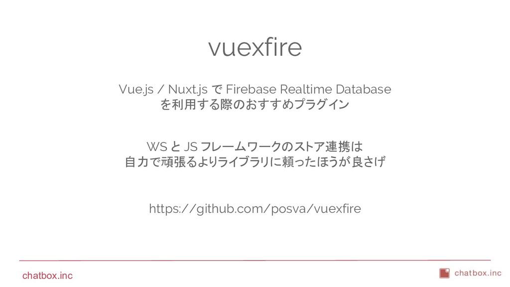 chatbox.inc vuexfire Vue.js / Nuxt.js で Firebas...