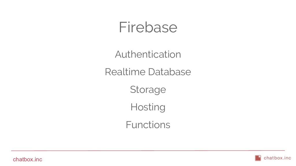 chatbox.inc Firebase Authentication Realtime Da...
