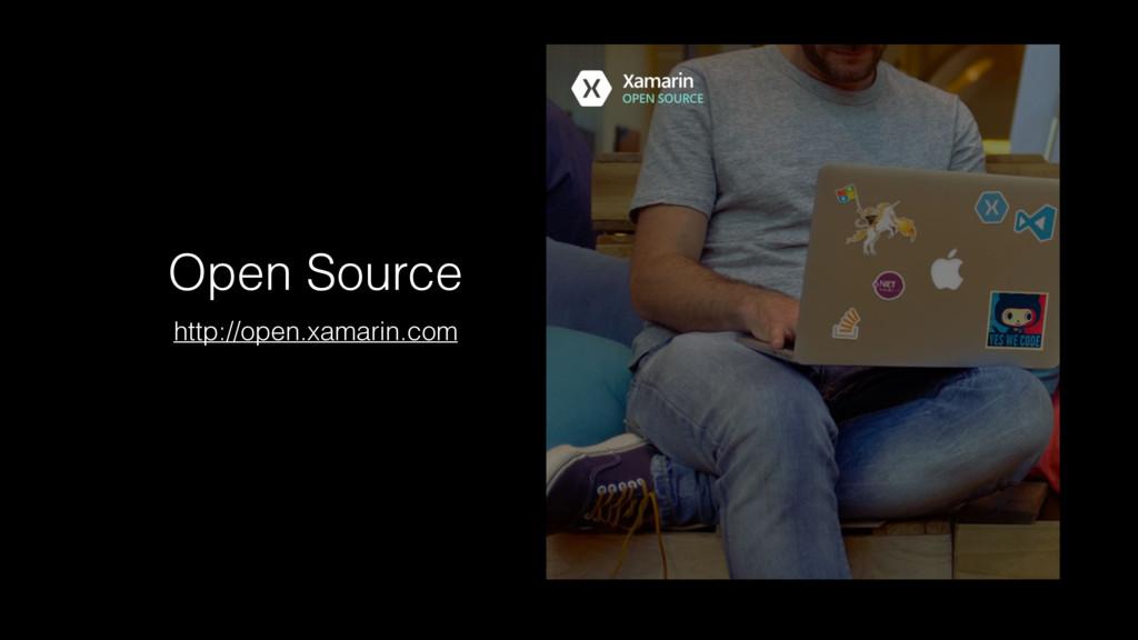 Open Source http://open.xamarin.com
