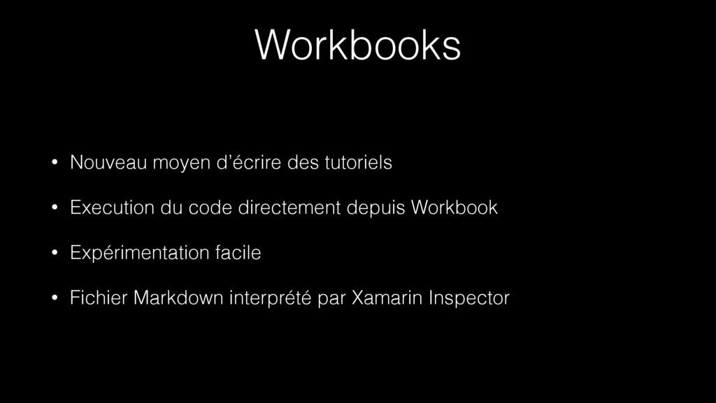 Workbooks • Nouveau moyen d'écrire des tutoriel...
