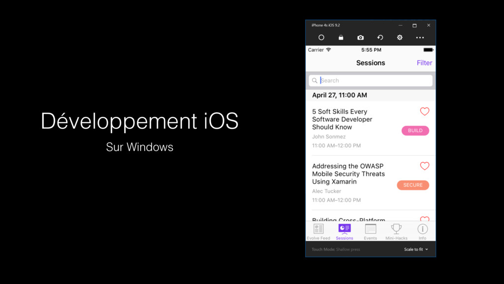 Développement iOS Sur Windows
