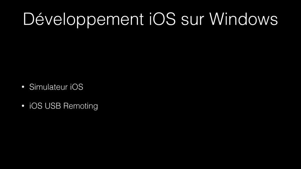 Développement iOS sur Windows • Simulateur iOS ...
