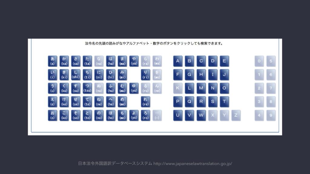 ຊ๏ྩ֎ࠃޠ༁σʔλϕʔεγεςϜ http://www.japaneselawtransl...