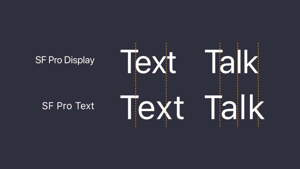 Text Talk Text Talk SF Pro Display SF Pro Text ...