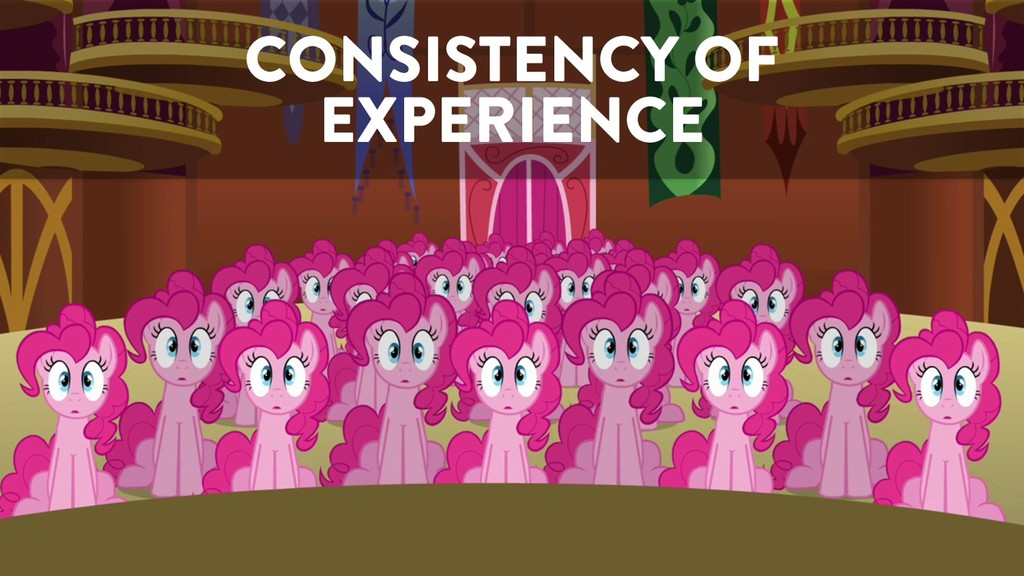 @marktimemedia CONSISTENCY OF EXPERIENCE