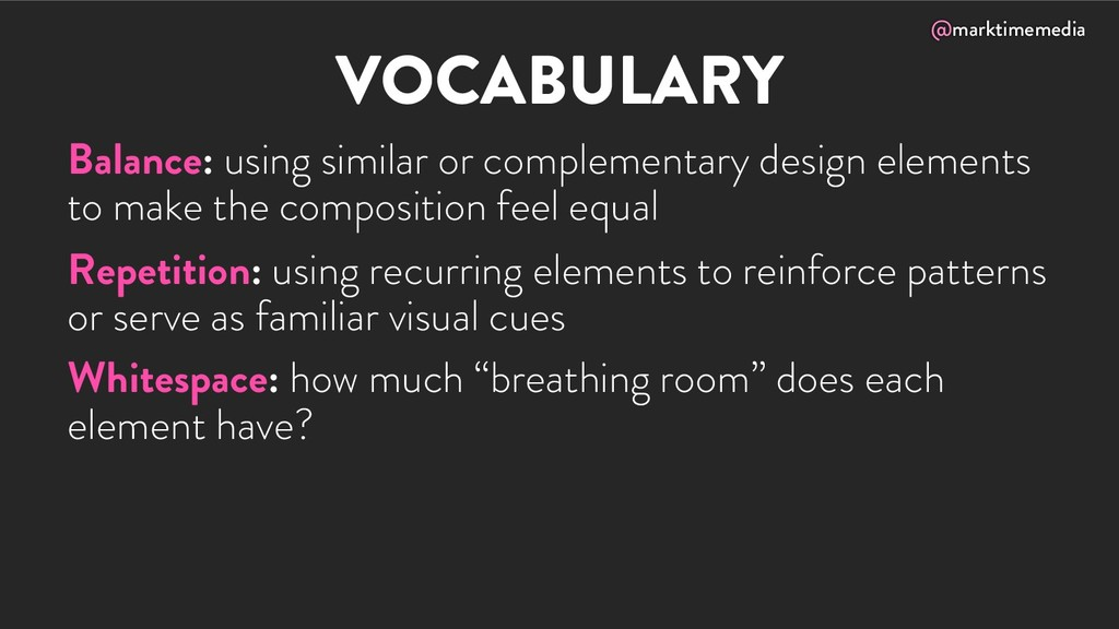 @marktimemedia VOCABULARY Balance: using simila...